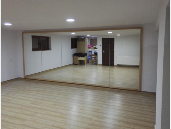 spiegelwand fitnessstudio spiegel 2x1m fitnessspiegel. Black Bedroom Furniture Sets. Home Design Ideas